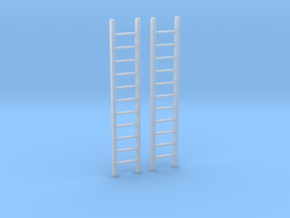Ladders 10 Scale Feet in Smooth Fine Detail Plastic: 1:64 - S