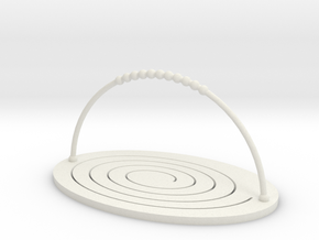 Folding Basket in White Natural Versatile Plastic