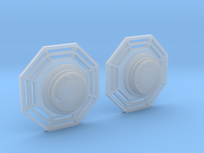 Artoo De Ago's 1:2.3 octagon ports, shallow ESB in Smooth Fine Detail Plastic