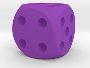 D6 Plain 16mm in Purple Processed Versatile Plastic