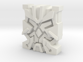 "Nexus Prime ""Leonine"" Matrix Plate in White Natural Versatile Plastic"