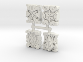 Rare Primes 4-Pack in White Natural Versatile Plastic