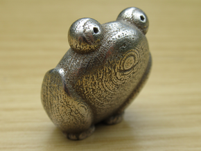 Pocket frog (v1) in Polished Bronzed-Silver Steel