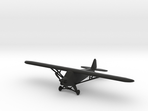 Piper J-3 Cub in Black Natural Versatile Plastic