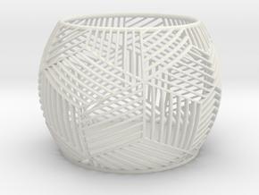 Tealight Holder in White Natural Versatile Plastic
