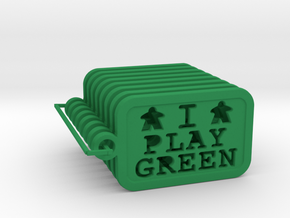 I PLAY GREEN - Meeple keychains (8) in Green Processed Versatile Plastic