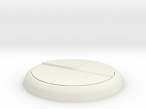 25mm Circular Base in White Natural Versatile Plastic