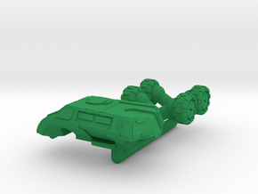 Legionnaire Light Wheeled Armor - 6mm in Green Processed Versatile Plastic