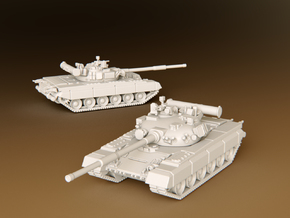 MBT T80b Scale: 1:285 in Smooth Fine Detail Plastic