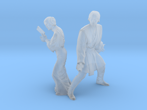 1/144 Luke and Leia in Smoothest Fine Detail Plastic