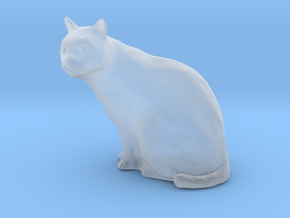 1/24 G Scale Cat Sitting in Smooth Fine Detail Plastic