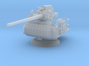 1/125 USN Single 5 inch (127 mm) 38 caliber gun in Smooth Fine Detail Plastic