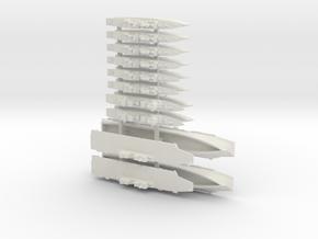 JMSDF Destroyer Pack 2 (WSF), 1/3000 in White Natural Versatile Plastic
