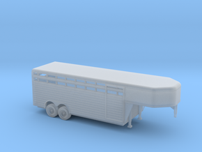 1/160  Modern Lifestock Trailer Kit in Smooth Fine Detail Plastic