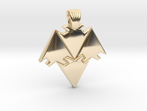 Arrows tiling [pendant] in 14K Yellow Gold