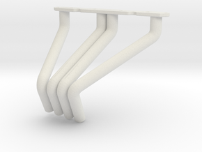 RC4WD V8 Zoomie Headers Right Side in White Natural Versatile Plastic