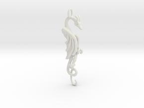 Flat Dragon R in White Premium Versatile Plastic