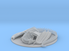Sleeping Dragon in Smooth Fine Detail Plastic