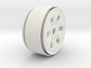 "Toyota IFS Beadlock Wheel 1.61"" in White Natural Versatile Plastic"