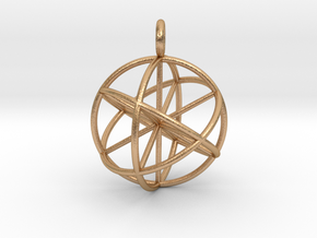 seed of life 30mm thin lines in Natural Bronze