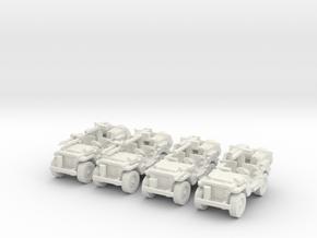 1/100 SAS Jeep ww2   set of 4  in White Natural Versatile Plastic