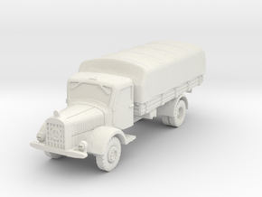 Mercedes L4500 (covered) A 1/87 in White Natural Versatile Plastic