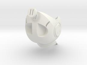 Astro Knight's Helmet in White Natural Versatile Plastic