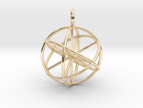 Seed of Life Genesa Sphere 20mm and 30mm in 14k Gold Plated Brass: Large