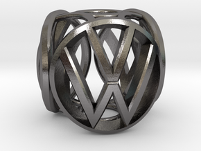 VW Bead in Polished Nickel Steel