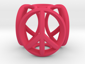 peace bead in Pink Processed Versatile Plastic
