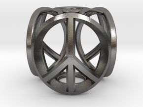 peace bead in Polished Nickel Steel