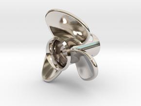 Propeller_side-mount in Rhodium Plated Brass