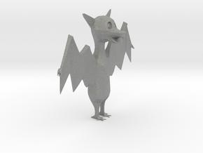 Cartoon Bat 2  in Gray Professional Plastic: Extra Small