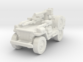 1/56 28mm LRDG SAS Jeep 4 in White Natural Versatile Plastic