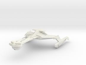 Klingon Muduq Class I  WarDestroyer in White Natural Versatile Plastic
