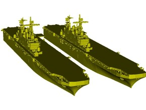 1/2000 scale USS Tarawa LHA-1 assault ships x 2 in Smooth Fine Detail Plastic