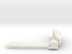 Gardermoen Terminal in White Natural Versatile Plastic: 1:700