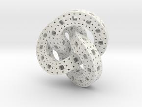 Menger Knot in White Natural Versatile Plastic