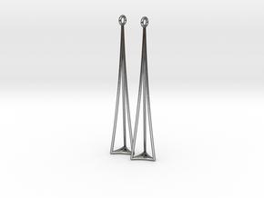 Triangle in Polished Silver: Medium