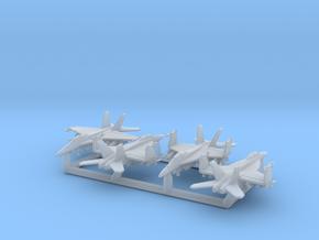 EA-18G w/Gear x4 (FUD) in Smooth Fine Detail Plastic: 1:700