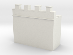 Roman hadrian's wall 1/144  in White Natural Versatile Plastic