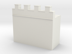 Roman hadrian's wall 1/200 in White Natural Versatile Plastic