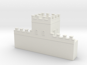 hadrian's wall tower  1/200 in White Natural Versatile Plastic
