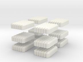 Roman Testudo   6x8 1/160 x 12 in White Natural Versatile Plastic