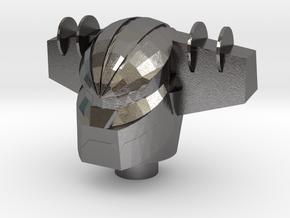 Jeeg Robotman Head in Polished Nickel Steel