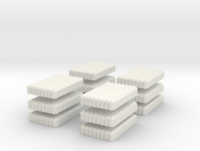 RomanTestudo   8 x 12 1/285 6mm x 12 in White Natural Versatile Plastic