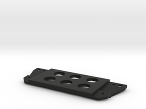 3rd gen Tacoma switch plate, six holes in Black Natural Versatile Plastic