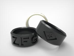 [Size 7] Zac Francis Garcia Remembrance Ring in Matte Black Steel