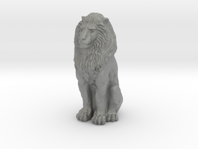 Lion - Seated 1:48 in Gray Professional Plastic