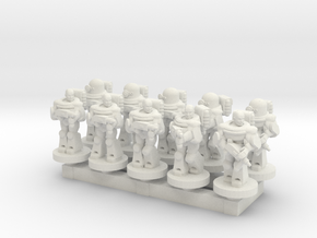 Space Army 10mm Set 1 in White Natural Versatile Plastic